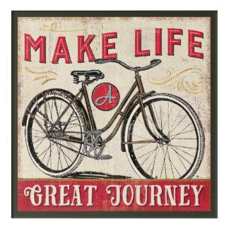 Impressions En Acrylique Faites à la vie une grande citation de voyage