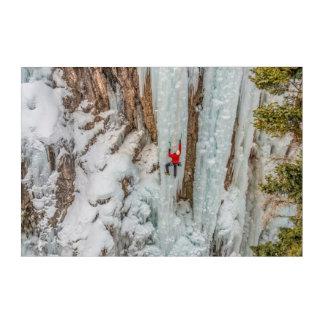 Impressions En Acrylique Falaise croissante de glaciériste