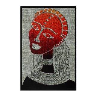 Impressions En Acrylique Femme de couleur