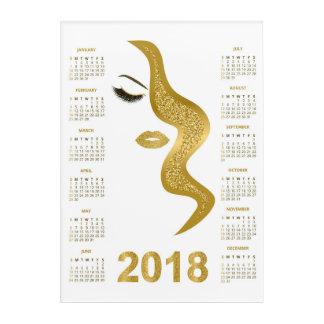 Impressions En Acrylique Femmes avec le calendrier scintillant du