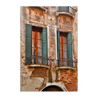 Impressions En Acrylique Fenêtre dans le bâtiment de Venise