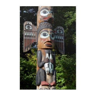 Impressions En Acrylique Fin de Polonais de totem, l'Alaska