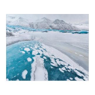 Impressions En Acrylique Glace congelée de glacier, Islande