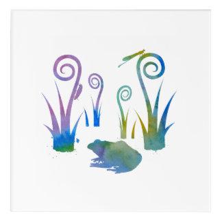 Impressions En Acrylique Grenouille, insectes, de plantes étranges