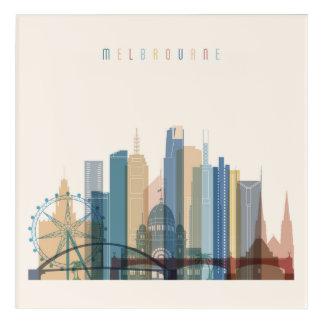 Impressions En Acrylique Horizon de ville de Melbourne, Australie |