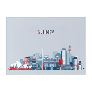 Impressions En Acrylique Horizon de ville de Sydney Australie