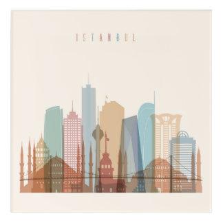 Impressions En Acrylique Horizon de ville d'Istanbul, Turquie  