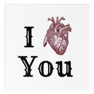 Impressions En Acrylique I coeur vous