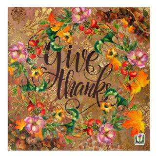 Impressions En Acrylique Illustration 53086A2 du thanksgiving du plaisir de