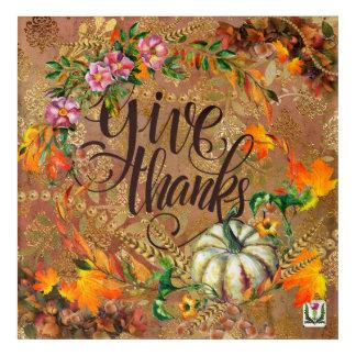 Impressions En Acrylique Illustration 53086A du thanksgiving du plaisir de