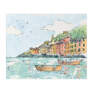 Impressions En Acrylique Illustration de port de Porofino