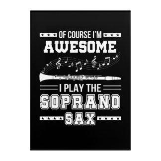 Impressions En Acrylique Im jeu impressionnant d'I le saxophone de soprano
