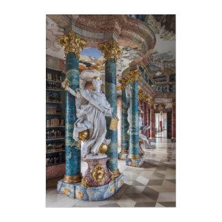 Impressions En Acrylique Intérieur de bibliothèque de Rococo-Style