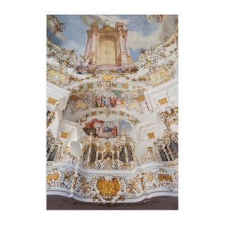 Impressions En Acrylique Intérieur d'église de Wieskirche