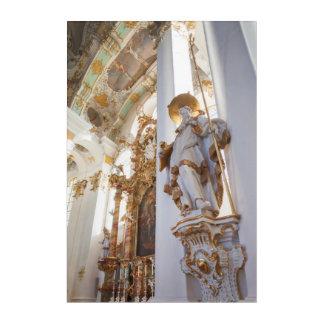Impressions En Acrylique Intérieur rococo bavarois d'église