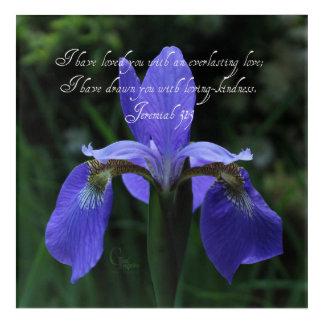 Impressions En Acrylique Iris de bleu royal de 31:3 de Jérémie