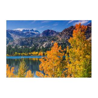 Impressions En Acrylique Lac autumn autour de juin, la Californie