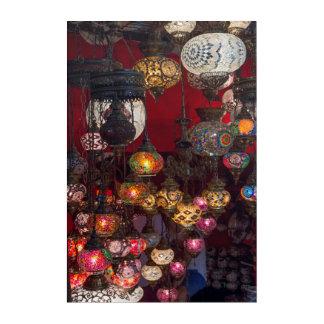 Impressions En Acrylique Lanternes turques au marché