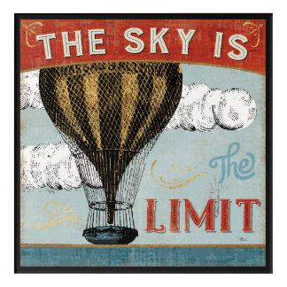 Impressions En Acrylique Le ciel chaud de ballon à air est la citation de