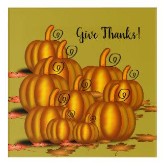 Impressions En Acrylique Le thanksgiving/donnent à des mercis l'art