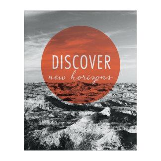 Impressions En Acrylique Les canyons   découvrent la citation de New