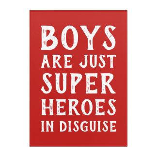 Impressions En Acrylique Les garçons sont juste le superhéros dans l'art de