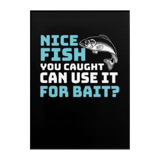Impressions En Acrylique Les poissons gentils vous Caught pouvez l'employer