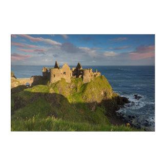 Impressions En Acrylique Lever de soleil au-dessus des ruines de château de