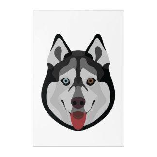 Impressions En Acrylique L'illustration poursuit le chien de traîneau