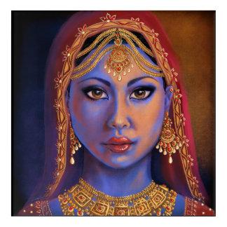 Impressions En Acrylique L'Inde : Jeune mariée