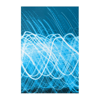 Impressions En Acrylique Lites bleu au néon