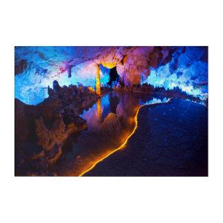 Impressions En Acrylique Lumières en caverne tubulaire de cannelure, Chine