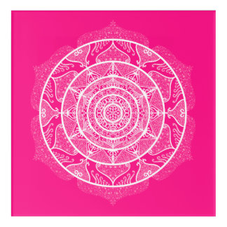 Impressions En Acrylique Mandala de digitale