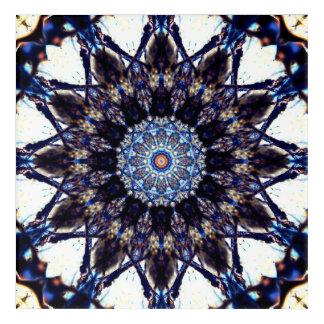 Impressions En Acrylique Mandala en forme d'étoile trouble