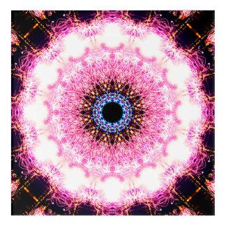 Impressions En Acrylique Mandala rose de pulsar