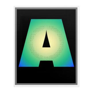 Impressions En Acrylique Marquez avec des lettres A