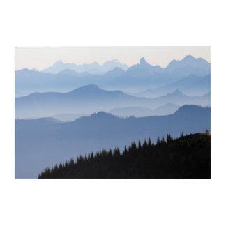 Impressions En Acrylique Montagnes de cascade du parc national de mont