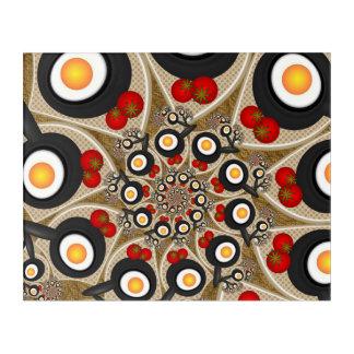 Impressions En Acrylique Nourriture drôle d'art de fractale de brunch,