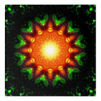 Impressions En Acrylique Noyau en forme d'étoile brûlant d'énergie