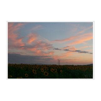 Impressions En Acrylique Nuages au coucher du soleil Toscane Italie