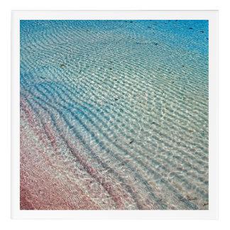 Impressions En Acrylique Océan rouge