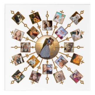 Impressions En Acrylique Or assez blanc d'images du collage 21 de photo de