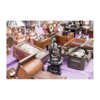 Impressions En Acrylique Outils de navigation maritimes antiques