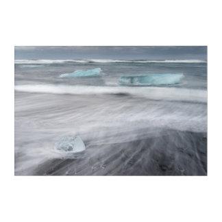 Impressions En Acrylique Paysage marin approximatif avec de la glace,