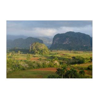 Impressions En Acrylique Paysage panoramique de vallée, Cuba