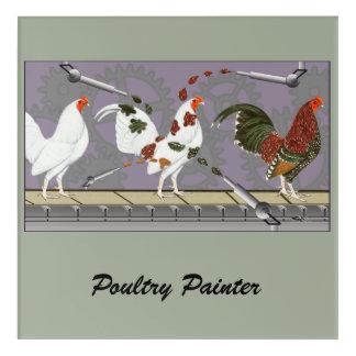 Impressions En Acrylique Peintre de volaille