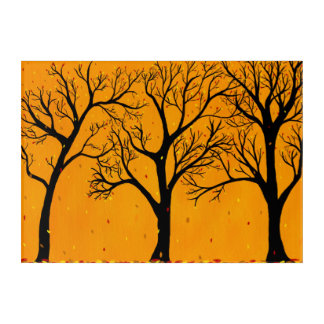 Impressions En Acrylique Peinture d'arbre de chute