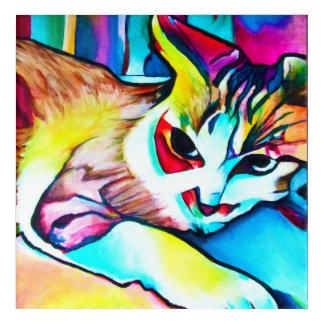 Impressions En Acrylique Peinture de Kitty de foyer