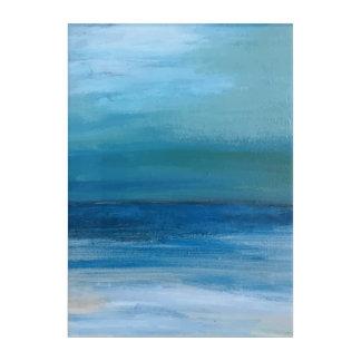 Impressions En Acrylique Peinture de vague d'océan et de plage