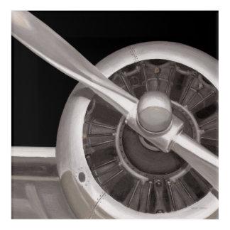 Impressions En Acrylique Plan rapproché de propulseur d'avion